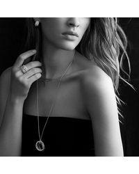 David Yurman - Metallic Crossover Pendant Necklace With Diamonds In 18k Rose Gold - Lyst