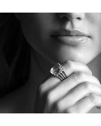 David Yurman - Metallic Wheaton Ring With Morganite And Diamonds - Lyst