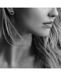 David Yurman - Albion® Earrings With Blue Topaz And Diamonds, 7mm - Lyst