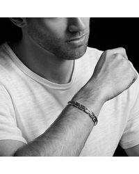David Yurman - Chevron Link Bracelet With Black Diamonds, 9mm for Men - Lyst
