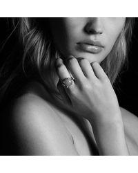 David Yurman - Châtelaine Ring With Hampton Blue Topaz And Diamonds, 14mm - Lyst