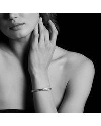 David Yurman - Metallic Petite Pavé Mini Loop Bracelet With Diamonds - Lyst