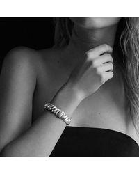 David Yurman - Metallic Hampton Cable Bracelet With Diamonds, 14mm - Lyst