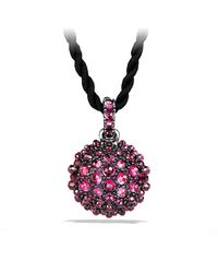 David Yurman - Metallic Osetra Pendant Necklace With Rhodalite Garnet, 20mm - Lyst