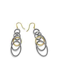 David Yurman - Metallic Crossover Earrings With Pearls And Diamonds In 18k Gold - Lyst