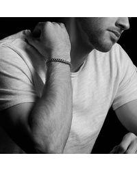 David Yurman - Metallic Woven Cuff Bracelet With 18k Gold for Men - Lyst
