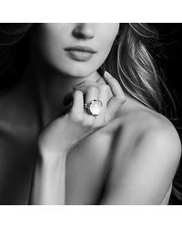 David Yurman - Blue Continuance® Ring With Milky Aquamarine, 20mm - Lyst