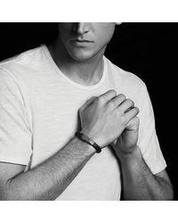 David Yurman - Waves Rubber Id Bracelet In Blue - Lyst