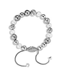 David Yurman - White Dy Elements Bracelet With Pearls - Lyst