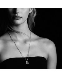 David Yurman - Albion® Pendant With Hampton Blue Topaz And Diamonds In 18k Gold, 11mm - Lyst