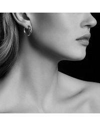 David Yurman - Metallic Continuance® Hoop Earrings In 18k Gold - Lyst