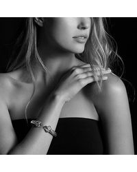 David Yurman - Metallic Renaissance Bracelet With Guava Quartz, Peridot, Pink Tourmaline, And 14k Gold, 10mm - Lyst