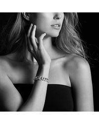 David Yurman - Metallic Buckle Bracelet With Diamonds In Silver, 14mm - Lyst