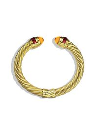 David Yurman - Yellow Renaissance Bracelet With Citrine And Rhodolite Garnet In 18k Gold, 8.5mm - Lyst