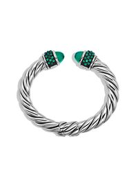David Yurman - Osetra Bracelet With Green Onyx - Lyst