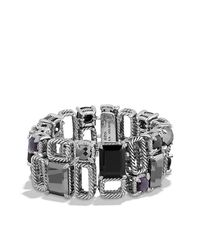 David Yurman - Metallic Chatelaine Pave Bezel Multi-row Linked Bracelet With Blue Topaz, Black Orchid, Black Onyx And Diamonds - Lyst