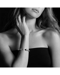 David Yurman - White Cable Classic Crossover Bracelet With Pearls And Diamonds, 7mm - Lyst