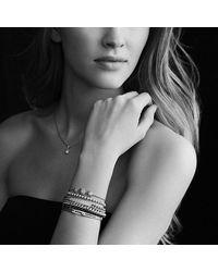 David Yurman - Petite Pavé Id Bracelet With Black Diamonds - Lyst