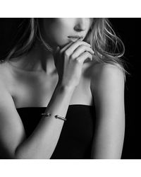 David Yurman - Cable Classics Bracelet With Black Onyx And Diamonds, 5mm - Lyst