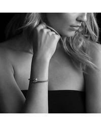 David Yurman - Metallic Willow Open Single-row Bracelet With Diamonds, 11mm - Lyst