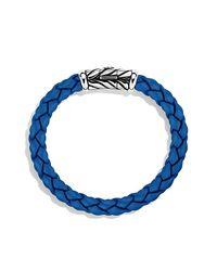 David Yurman | Chevron Rubber Weave Bracelet In Blue, 8mm for Men | Lyst