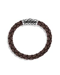 David Yurman - Chevron Rubber Weave Bracelet In Brown, 8mm for Men - Lyst