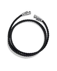David Yurman | Chevron Triple-wrap Bracelet In Black for Men | Lyst