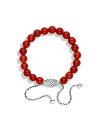 David Yurman | Metallic Spiritual Beads Bracelet With Carnelian | Lyst