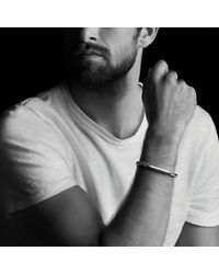 David Yurman | Red Chevron Id Bracelet With Tiger's Eye for Men | Lyst