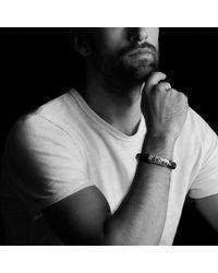 David Yurman | Metallic Frontier Bracelet In Black Leather for Men | Lyst