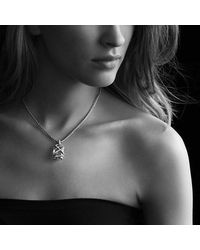David Yurman | Yellow Cable Wrap Pendant With Morganite And Diamonds In 18k Gold | Lyst