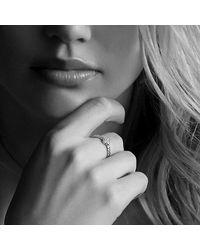 David Yurman - Metallic Petite Pave Ring With Diamonds In 18k Gold - Lyst