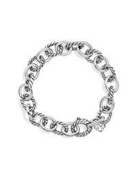 David Yurman - Metallic Oval Link Bracelet - Lyst