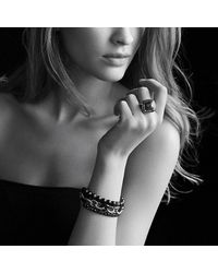 David Yurman | Large Oval Link Bracelet With Black Ceramic | Lyst