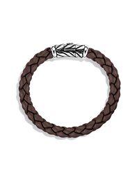 David Yurman - Multicolor Chevron Rubber Weave Bracelet In Brown, 8mm for Men - Lyst