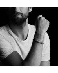 David Yurman - Black Chevron Leather Bracelet In Green for Men - Lyst