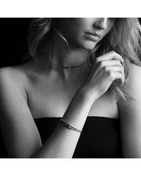 David Yurman - Petite Pavé Labyrinth Single-loop Bracelet With Black Diamonds - Lyst
