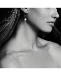 David Yurman - Solari Drop Earrings In 18k Gold With Diamonds And South Sea White Pearl - Lyst