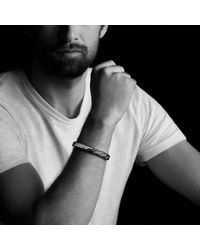 David Yurman | Forged Carbon Id Bracelet With Black Diamonds for Men | Lyst