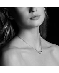 David Yurman - Gray Solari Single Station Necklace In 18k Gold With Diamonds And Tahitian Grey Pearl - Lyst