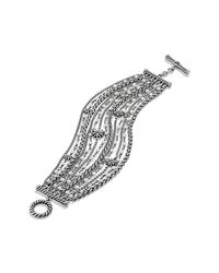 David Yurman - Metallic Starburst Chain Bracelet With Pearls - Lyst
