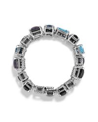 David Yurman | Chatelaine Pave Bezel Multi-row Linked Bracelet With Blue Topaz, Black Orchid, Black Onyx And Diamonds | Lyst