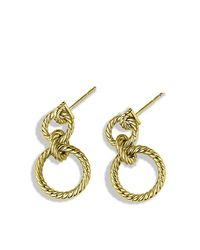 David Yurman - Metallic Mobile Cable Doorknocker Earrings In 18k Gold - Lyst