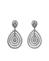 David Yurman - Metallic Cable Classics Drop Earrings With Diamonds - Lyst