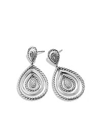 David Yurman - Metallic Cable Classics Drop Earrings With Diamonds - Lyst