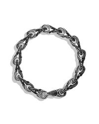 David Yurman - Armory Figure-eight Link Bracelet With Black Diamonds, 9.5mm for Men - Lyst