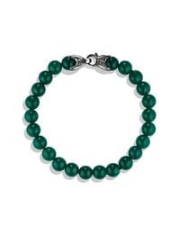 David Yurman - Spiritual Beads Bracelet With Green Onyx, 8mm for Men - Lyst