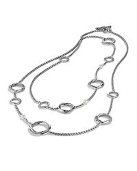 David Yurman - Metallic Infinity Station Chain Necklace With Pearls - Lyst