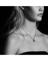 David Yurman - Metallic Châtelaine® Pendant Necklace With Turquoise And Diamonds In 18k Gold, 14mm - Lyst