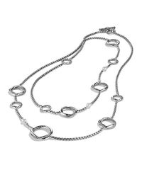David Yurman | Metallic Infinity Station Chain Necklace With Pearls | Lyst